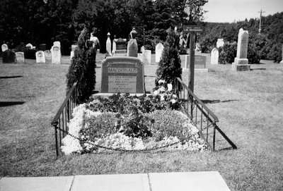 Tombstone of LM Montgomery