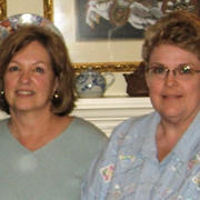 Carolyn and Christy in 2008
